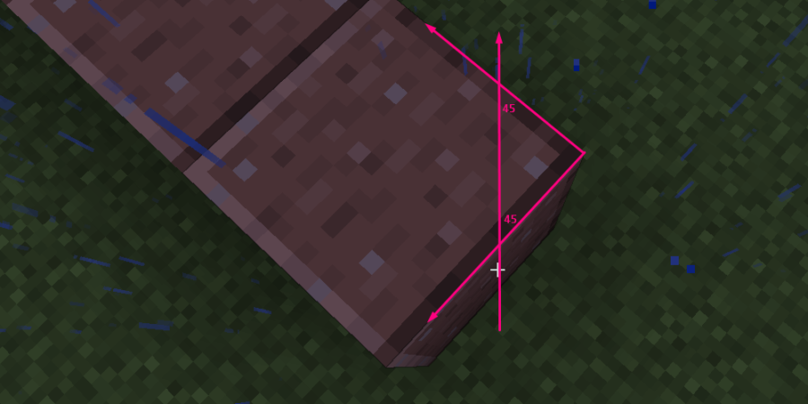 How to angle while speed bridging in Minecraft.