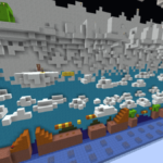 A screenshot of a Minecraft parkour map.