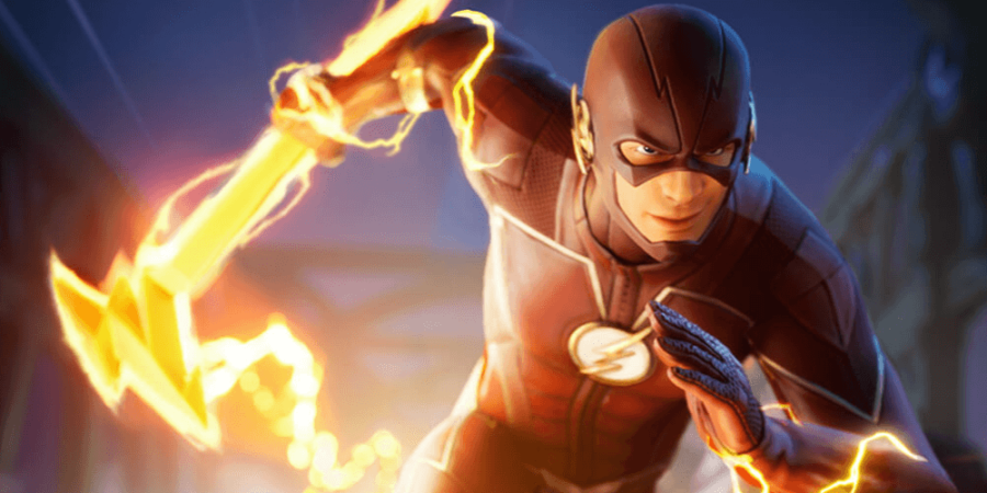 An image of the Flash in Fortnite.