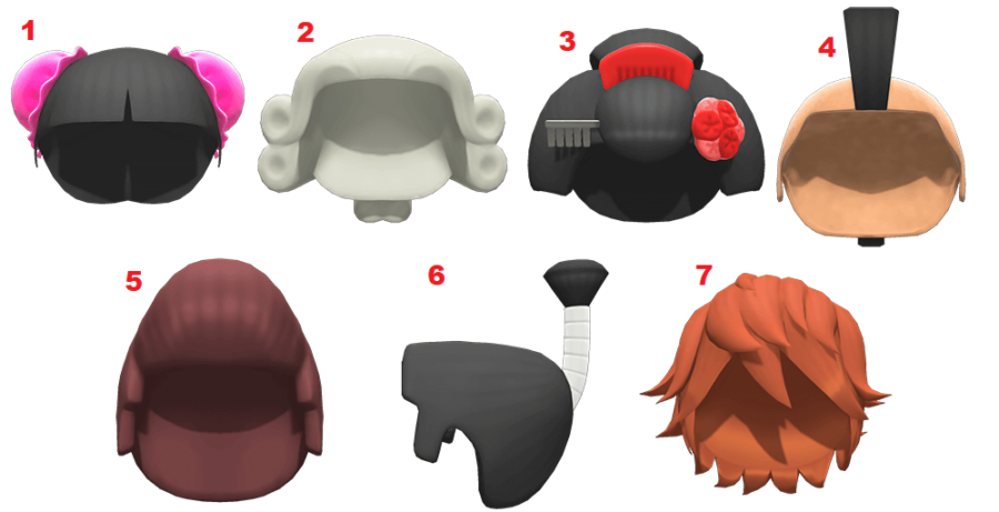 All the wigs in Animal Crossing: New Horizons.