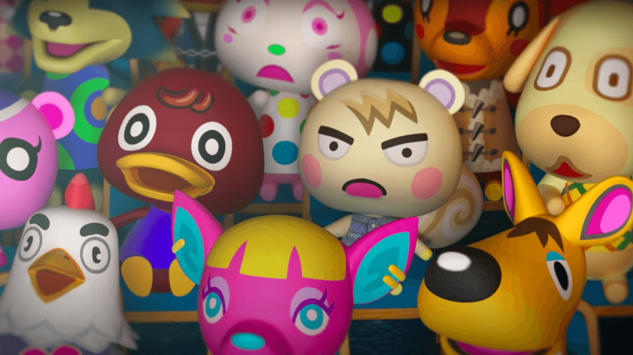 Several Animal Crossing Villagers looking appalled.