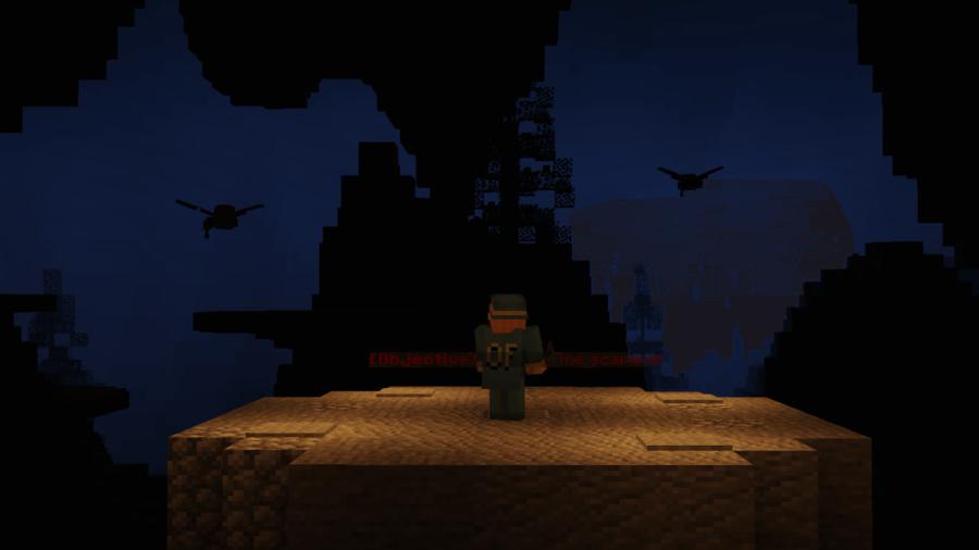 A screenshot of a minigame in Minecraft.
