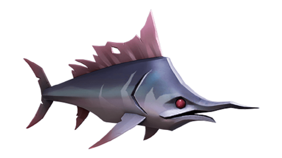 A stormfish from sea of thieves.