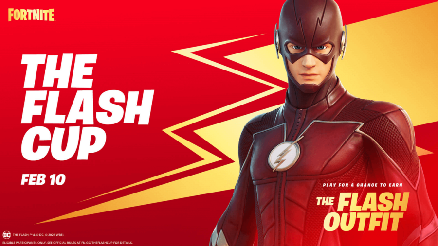 The title screen for The Flash Cup.