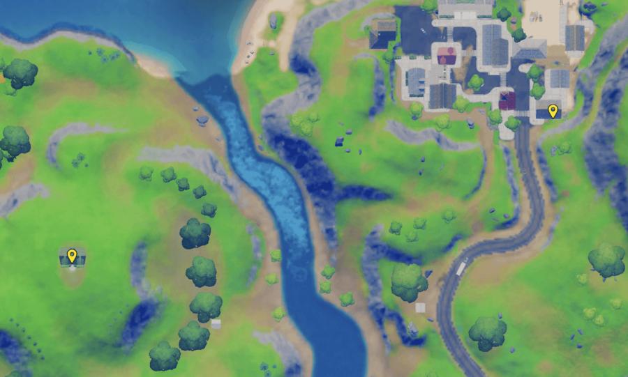 A screenshot from Fortnite showing where the NPC Remedy