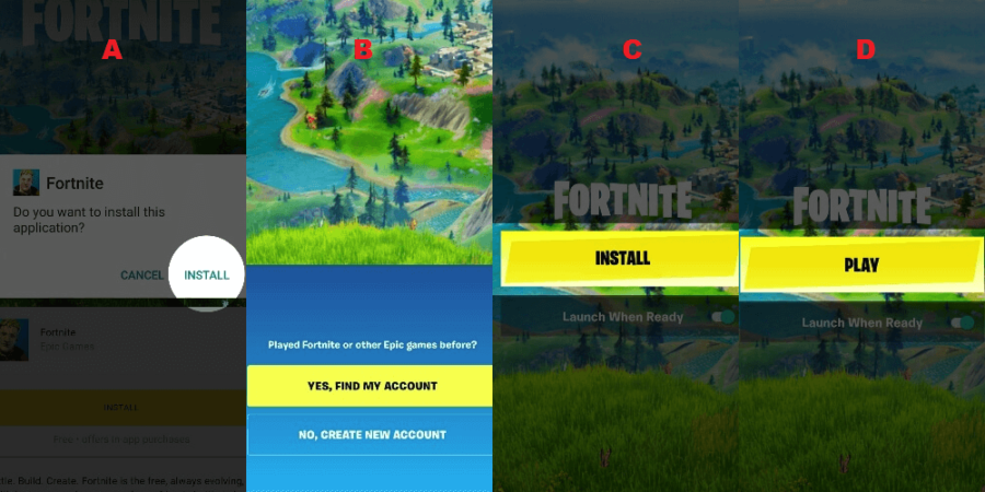 Step 2 to install Fortnite on Android.