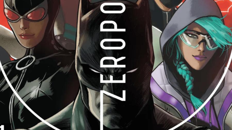 The title page for the Batman Fortnite Zero Point comic.