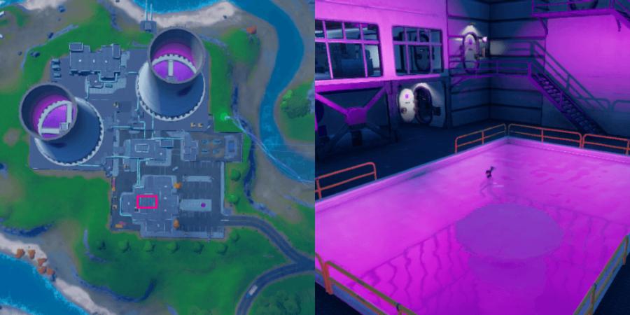 The Purple Pool location in Fortnite.