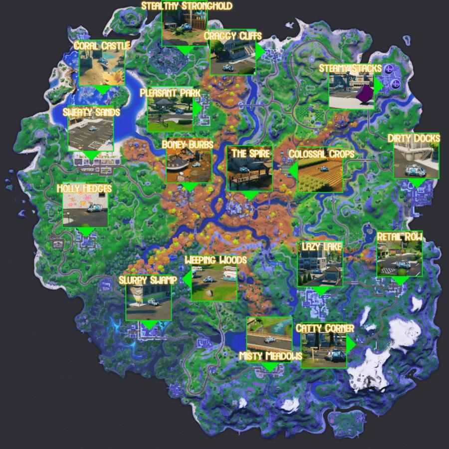 All Reboot Van Locations in Fortnite C2S6.