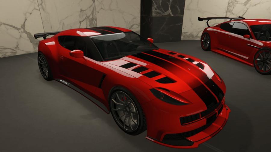 A customized Ocelot in GTA V.