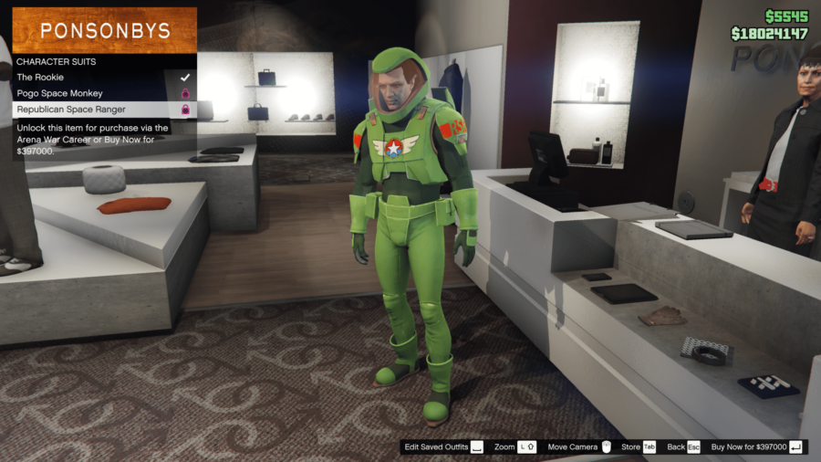 A Republican Space Ranger suit in GTA V.
