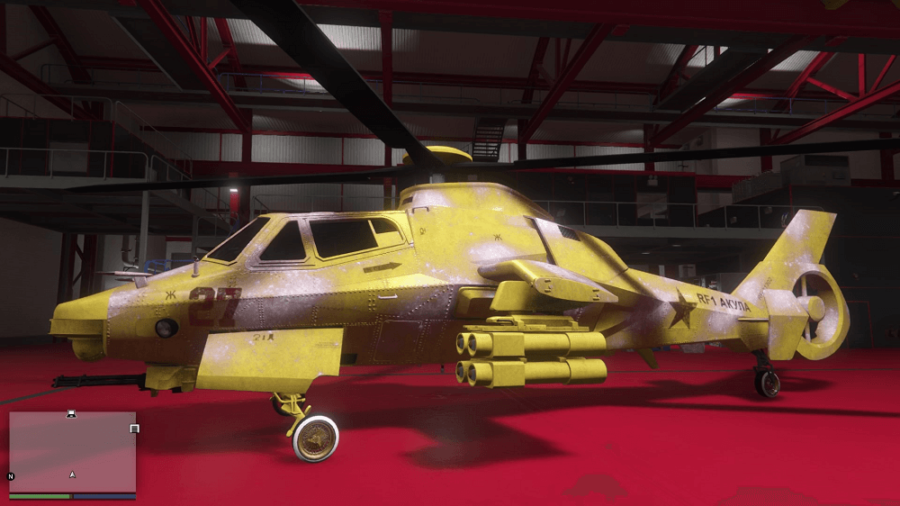 A customized Akula in GTA V.