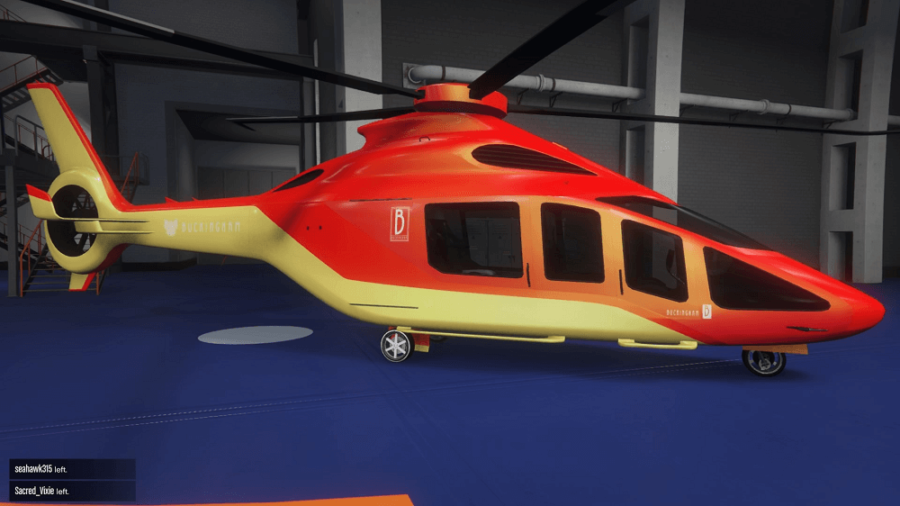 A customized Volatus in GTA V.