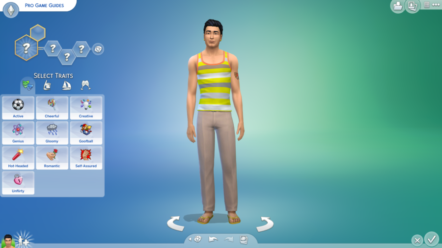 Showing the Sims 4 Traits