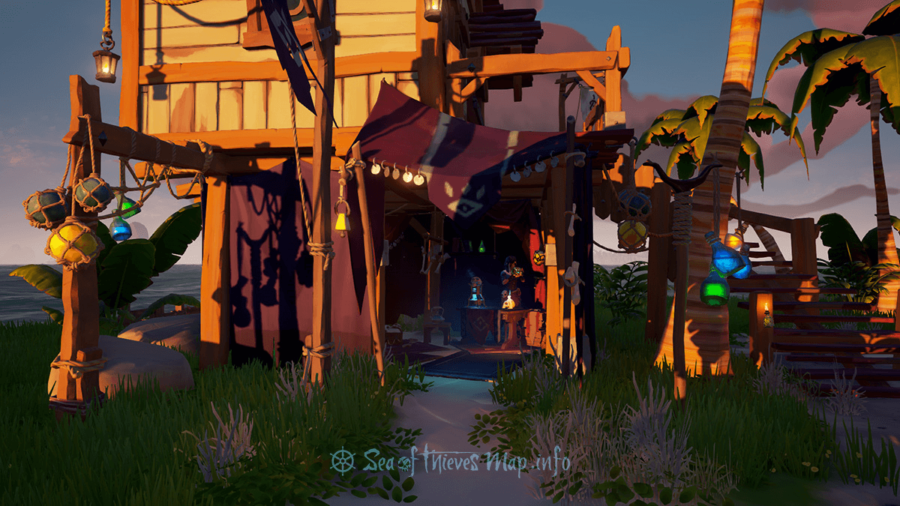 Screenshot of an Order of Souls tent in Sea of Thieves.