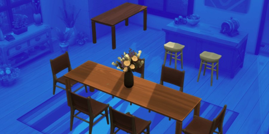 The dining set included in the sims anniversary update.