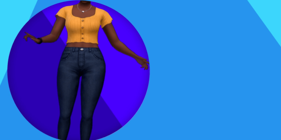 The adult clothes included in the sims anniversary update.