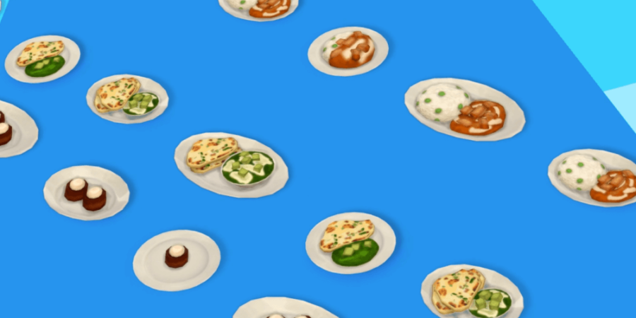 The food included in the sims anniversary update.