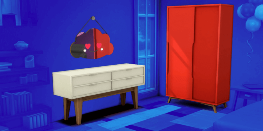 The bedroom set included in the Sims anniversary update.