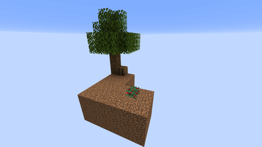 A screenshot of a basic skyblock map.