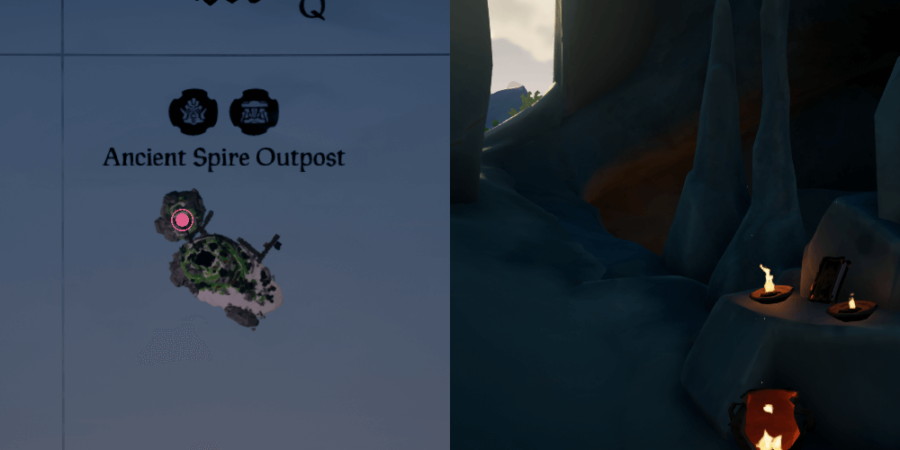 A view of where the journal is on Ancient Spire Outpost.
