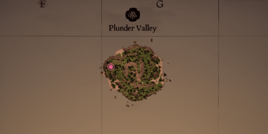 The Cave of Bones location on Plunder Valley.