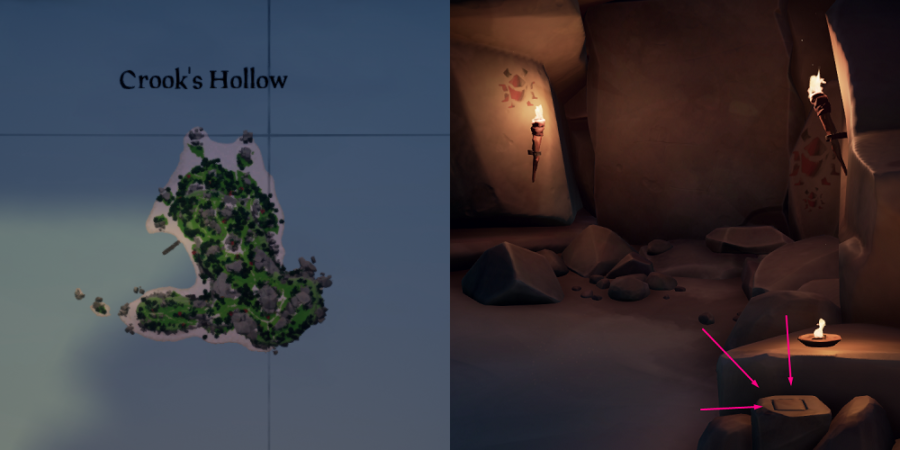 The vault location on Crooks Hideaway.