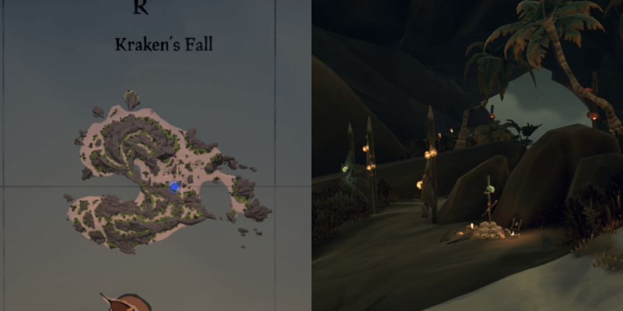 The Cursed Rogue Journal location on Krakens Fall.