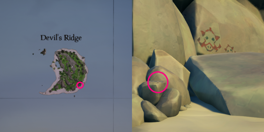 The vault location on Devils Ridge.