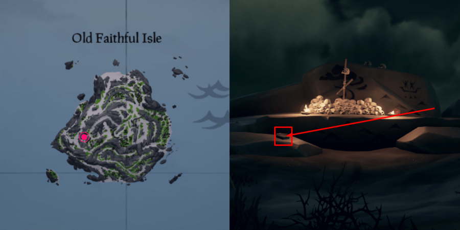 The fourth journal location on Old Faithful Isle.