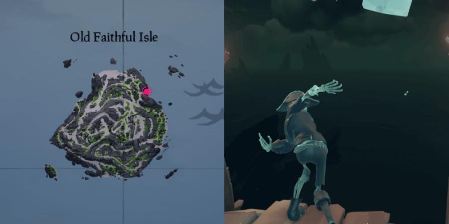 The location of Eli's Key on Old Faithful Isle.