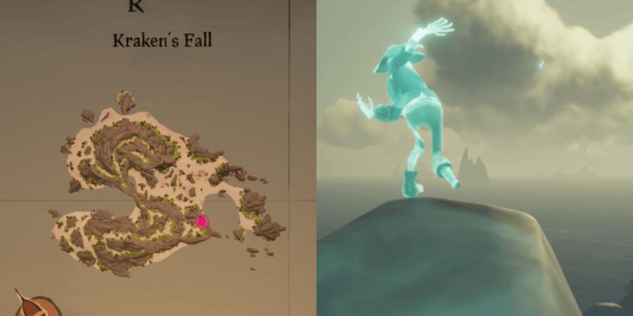 The location of Eli's key on Kraken's Falle.