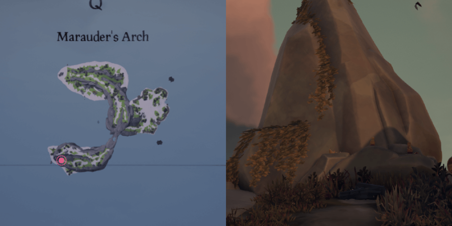 The Enchanted Lantern's location on Marauder's Arch.