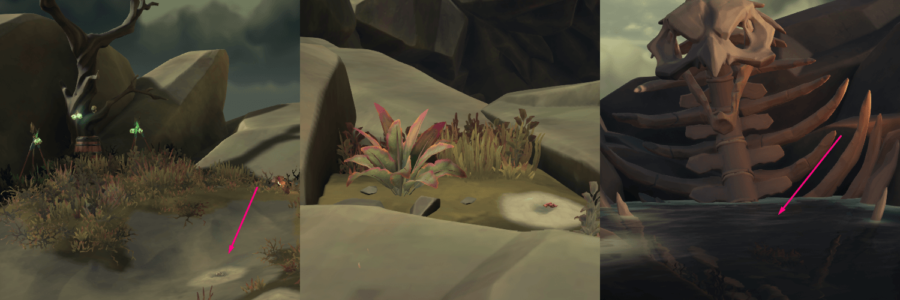 A collection of the locations of the medallions on Krakens Fall.
