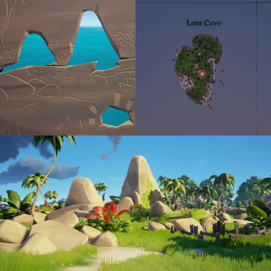 An overhead view of where to find the Crest on Lone Cove.