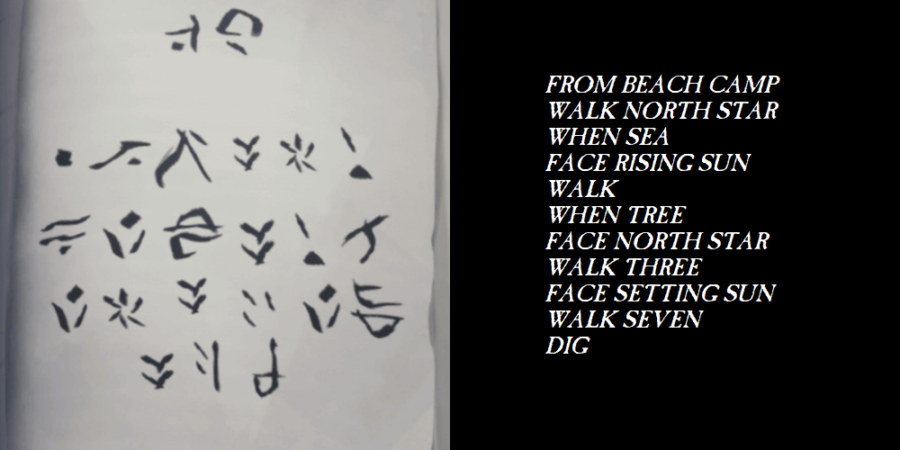 The translation for the passage that begins with From Beach Camp./