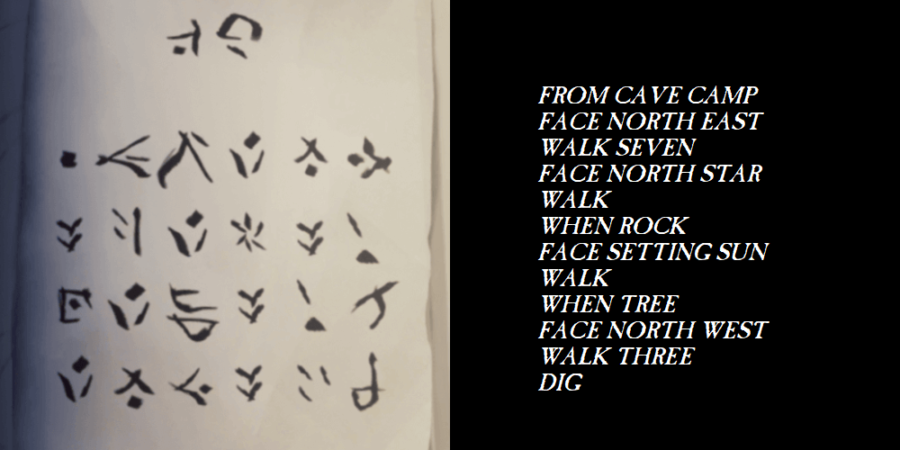 The translation for the passage that begins with from cave camp.
