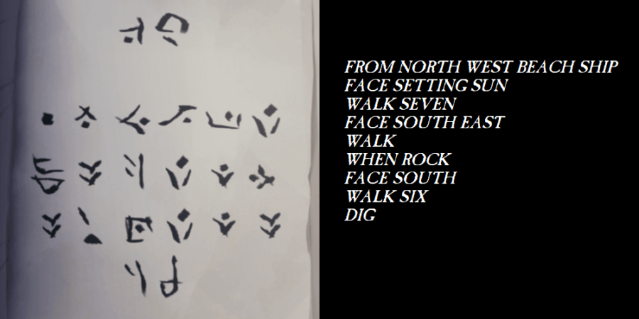 The translation for the passage that begins with From North West.