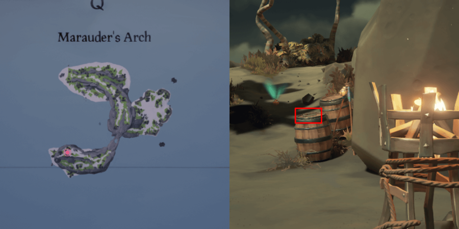 The Journal location on Marauder's Arch.