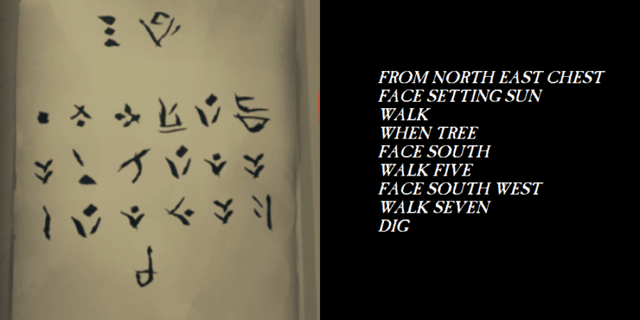 The translation for the passage that begins with From North East.