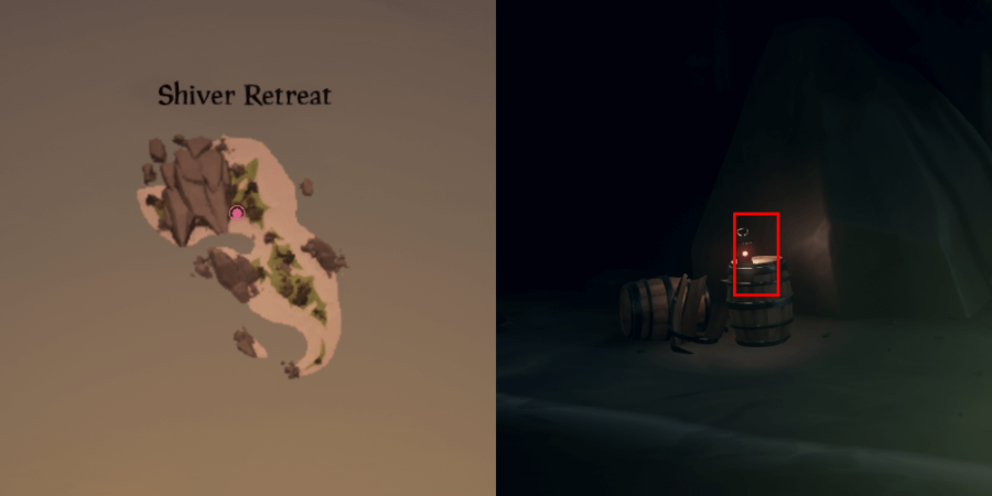 The Journal location on Shiver Retreat.