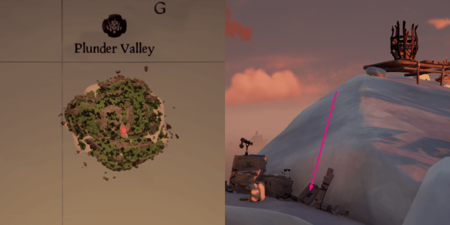 An overhead view of the Journal Location on Plunder Valley.