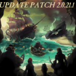 The Update Patch Title over the Sea of Thieves Title Image.