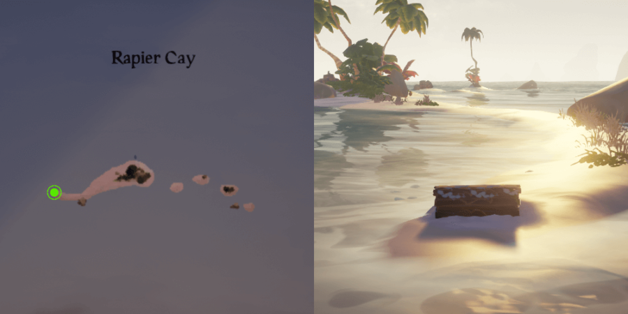 Chest of Memories location on Rapier Cay.