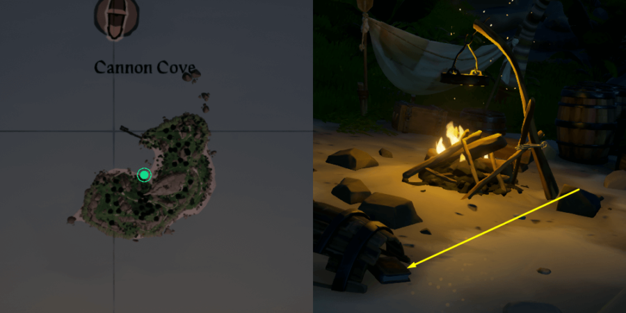The Location of the Journal on Cannon Cove.