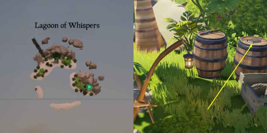 The location of the Journal on Lagoon of Whispers.