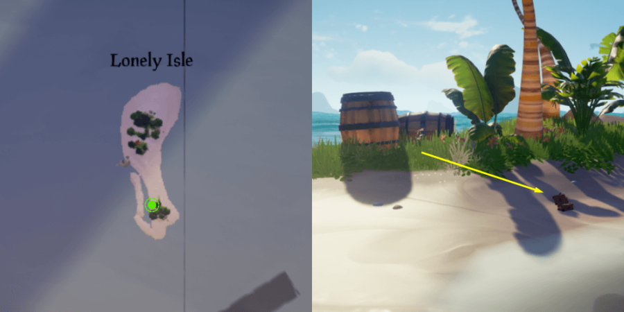 The Music box Location on Lonely Isle.