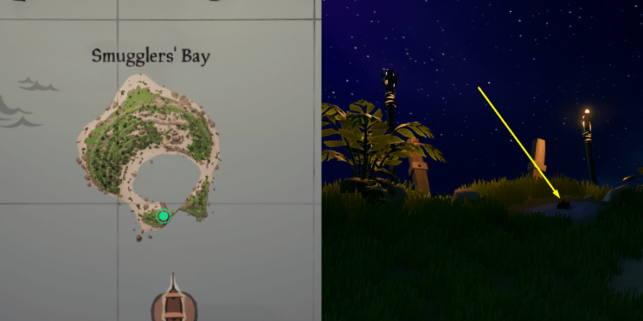 The Music Box Location on Smuggler's Bay.