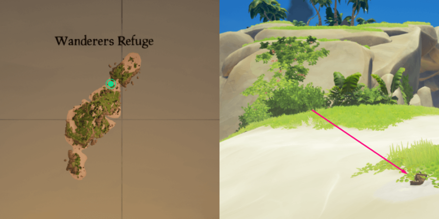 The Music box Location on Wanderer's Refuge.