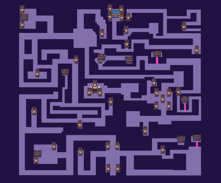 The map for the Skull Maze in Forager.